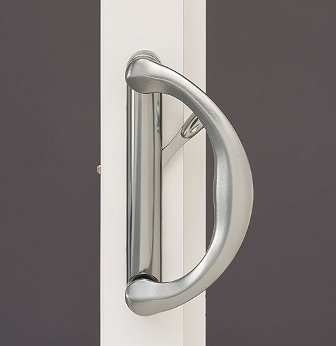 features hardware tuscany deco door brushedchrome